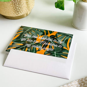 CARTE  - Monstera - Happy Spirit Illustrations