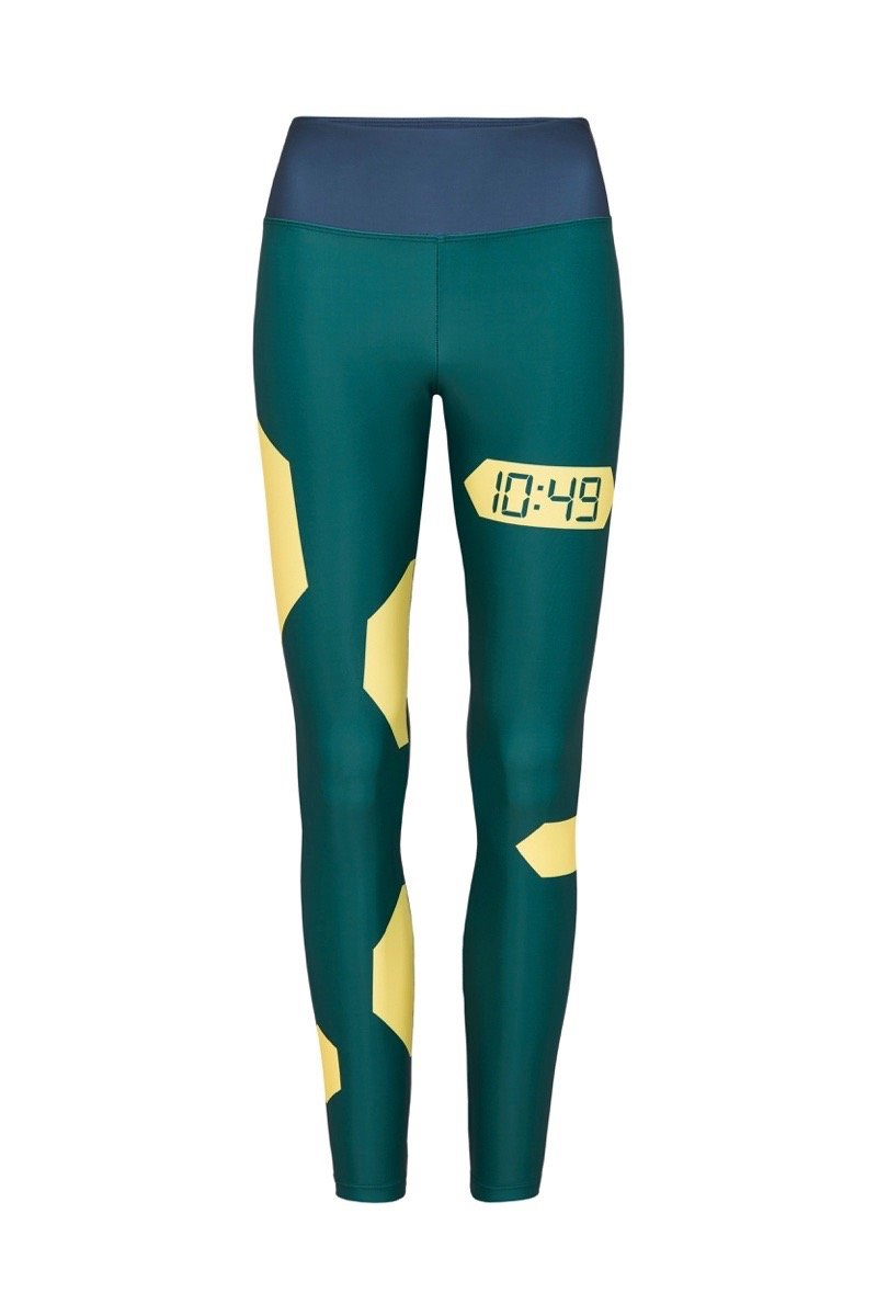 The Float Leggings Green Yellow
