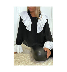 BLOUSE BLACK & WHITE