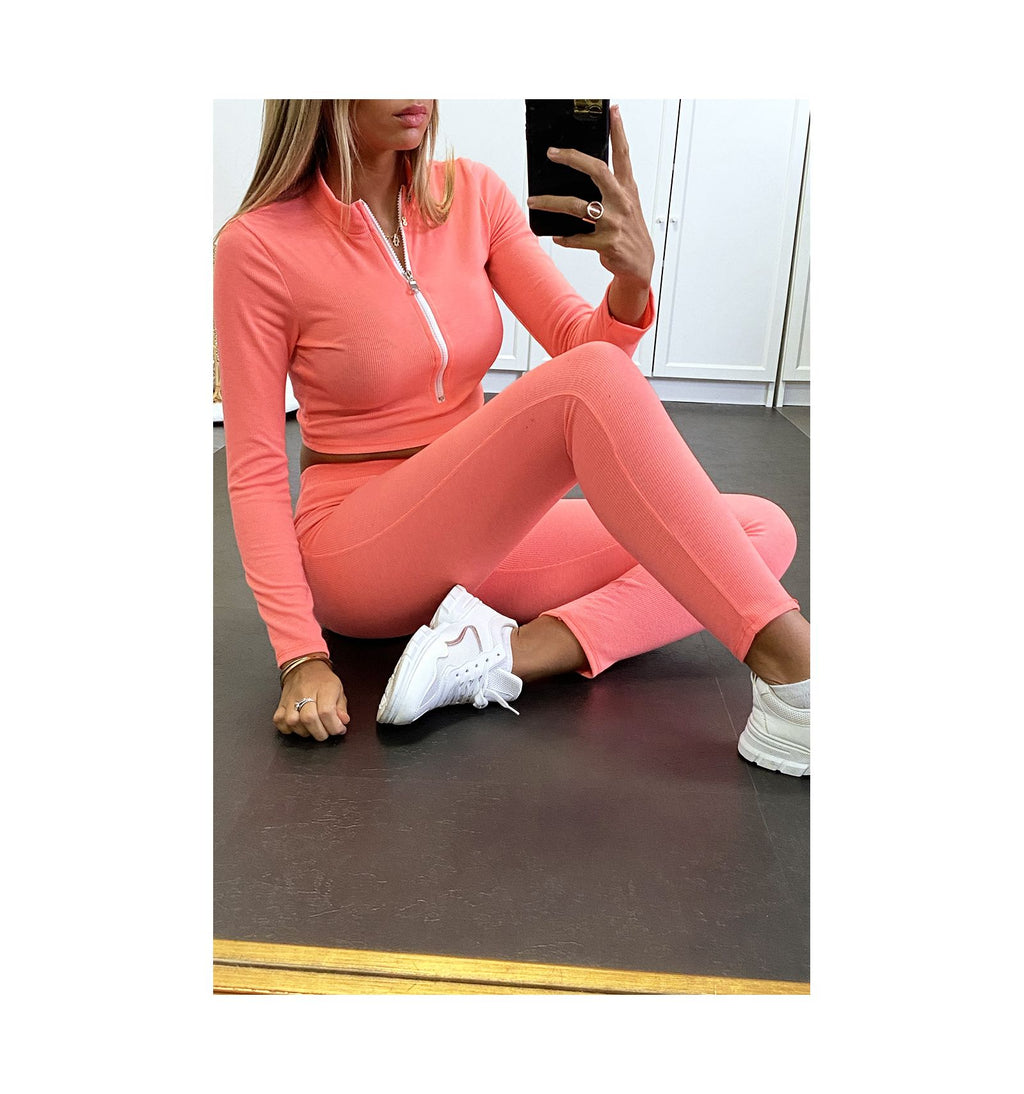 ENSEMBLE TOP ET LEGGING CORAIL