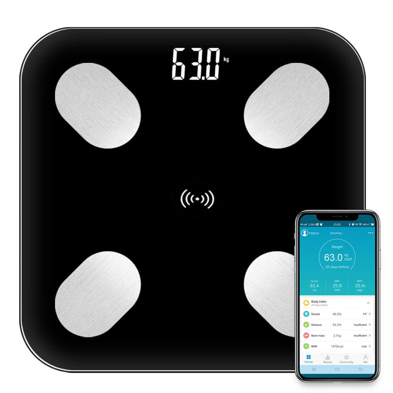 SmartScale Digital Weighing Bathroom Scale With Bluetooth