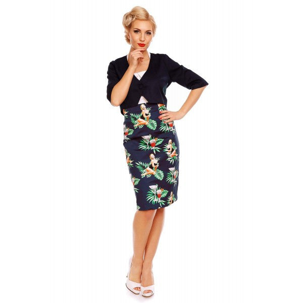 Falda Pinup Pencil Skirt by Dolly and Dotty