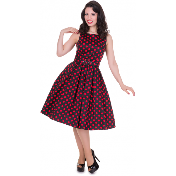 Annie Polka Dot Swing Dress by Dolly and Dotty