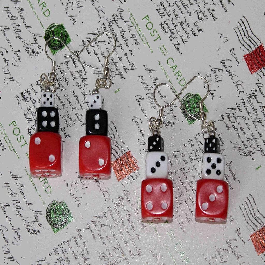 handmade dice earrings
