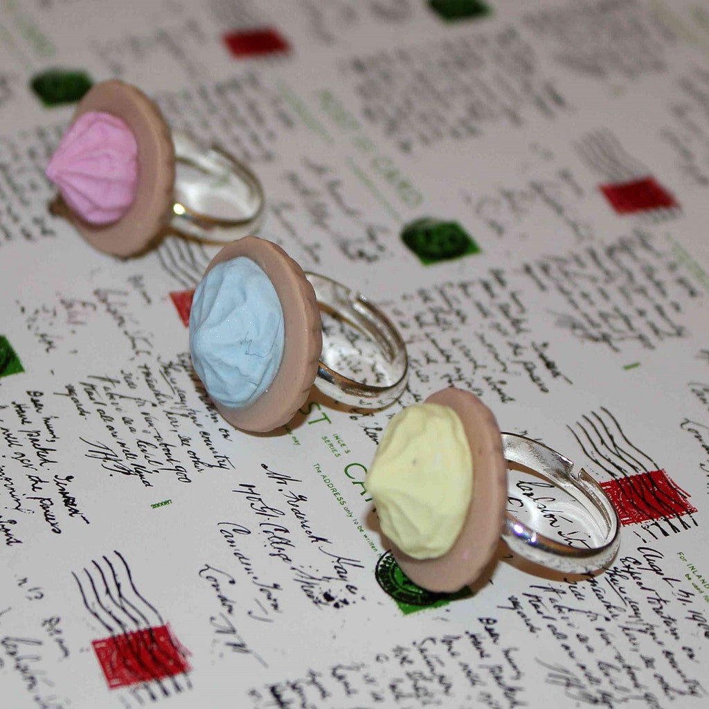 handmade iced gem rings