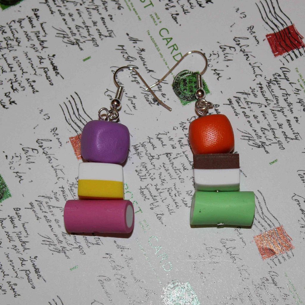handmade dolly mixture sweet earrings