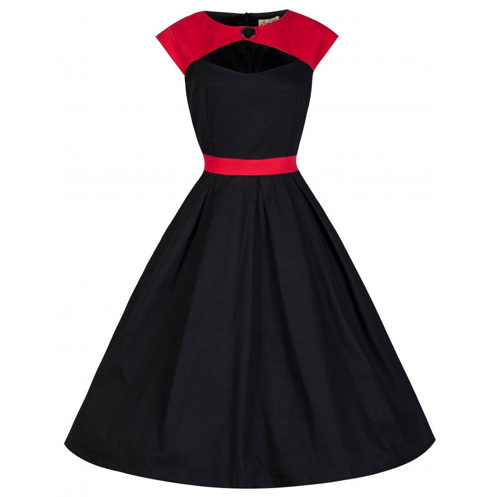 Lottie Red and Black Rockabilly Dress by Lindy Bop