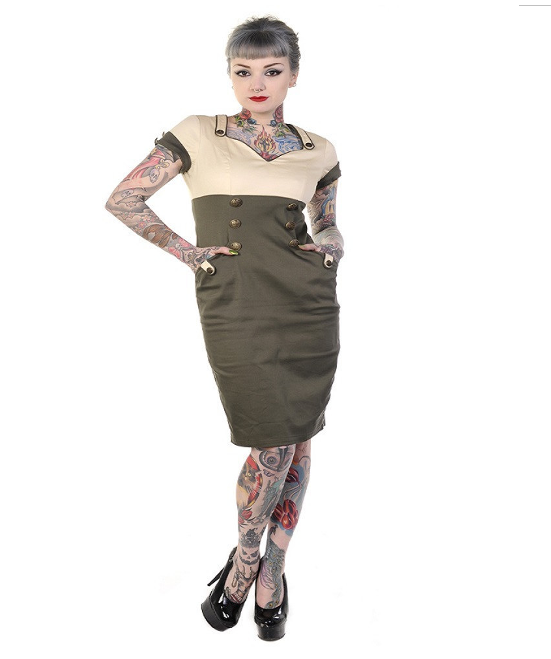 Marnie Wiggle Dress by Banned