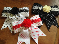 Retro Rosie Dots Galore Hair Bow by Punk Up Bettie