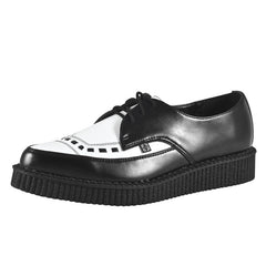A8140 Leather Pointed Toe Brothel Creepers by T.U.K