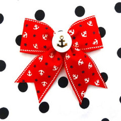 Red Vintage Sailor Doll Hair Bows by Punk Up Bettie