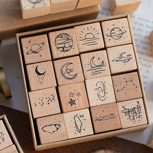 Vintage Planet Moon Craft Stamps