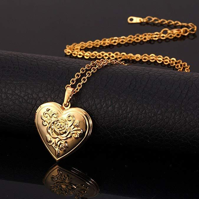 Romantic Heart Locket(Gold + Silver)