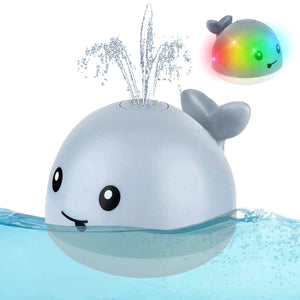 Sprinkler Whale Bath Toy With LED Lights