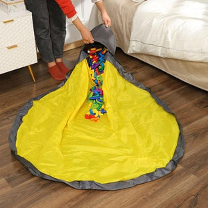 Portable Toy Clean-up and Storage Bags Play Mat Toys Organizer Storage Container