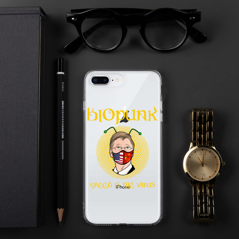BIOPUNK- GREED is the VIRUS iPhone Case