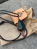 POWER PENDANT - Handmade with Orgone, Copper and Natural Fibers
