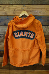 San Francisco Giants baseball one of a kind vintage orange American Eagle Outfiitters jacket