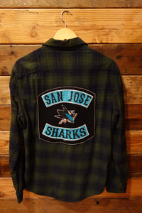 San Jose Sharks one of a kind vontage Sonoma flannel shirt
