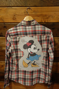 Disney Minnie Mouse one of a kind flannel shirt