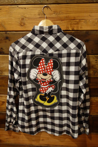 Disney Minnie Mouse one of a kind Jachs Girlfriend flannel shirt