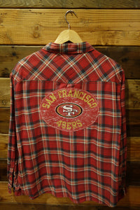 San Francisco 49ers one of a kind vintage Jach's girlfriend flannel