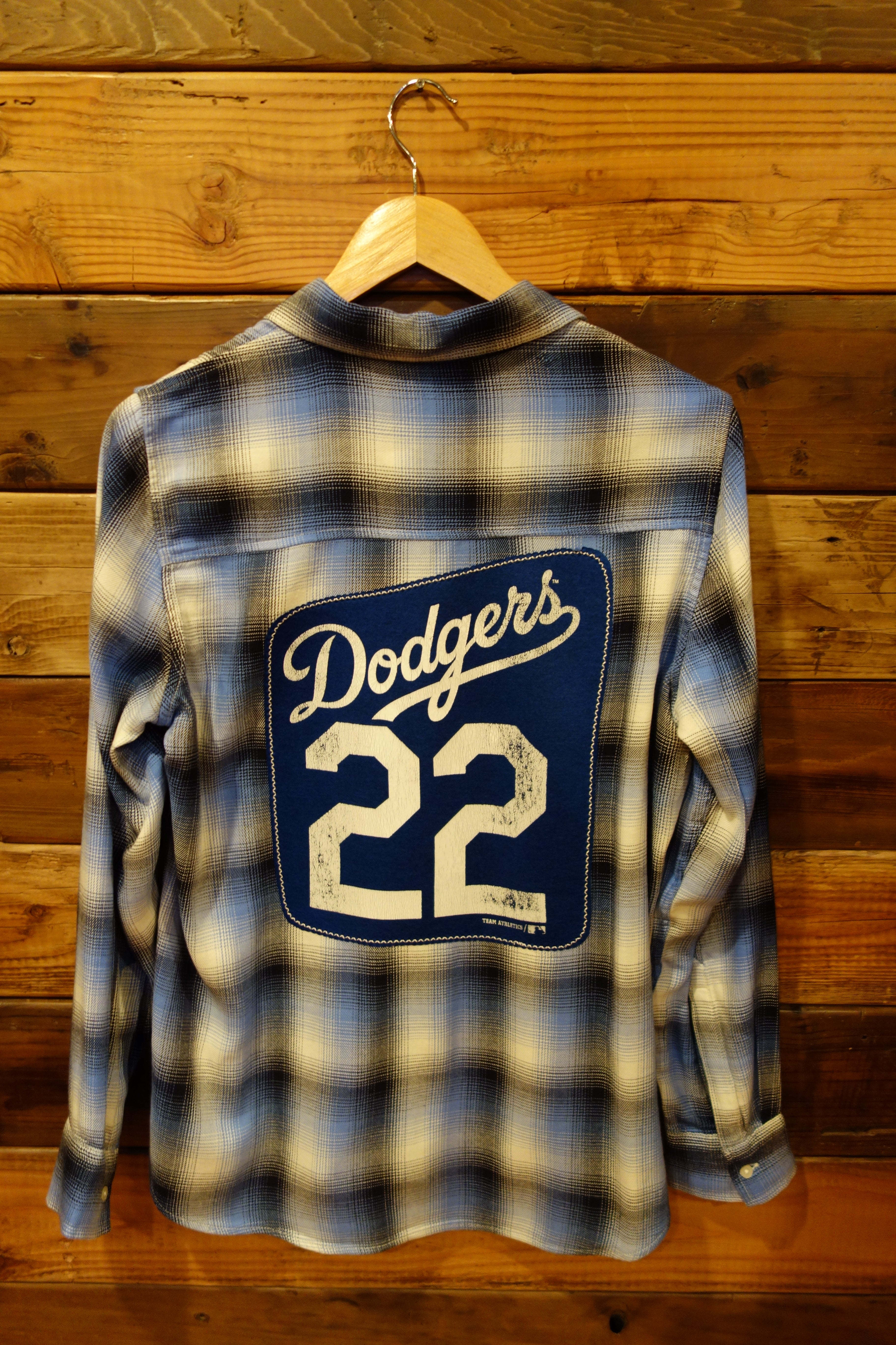 Los Angeles Dodgers one of a kind vintage Gap flannel shirt