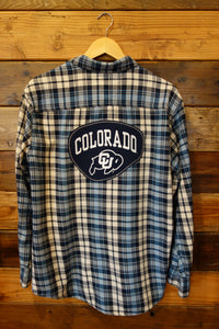 University of Colorado one of a kind Hawk vintage flannel shirt