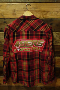 San Francisco 49ers Football one of a kind vintage Sears Roebuck vintage flannel shirt