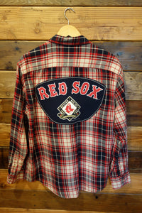 Boston Red Sox one of a kind Timberland flannel shirt