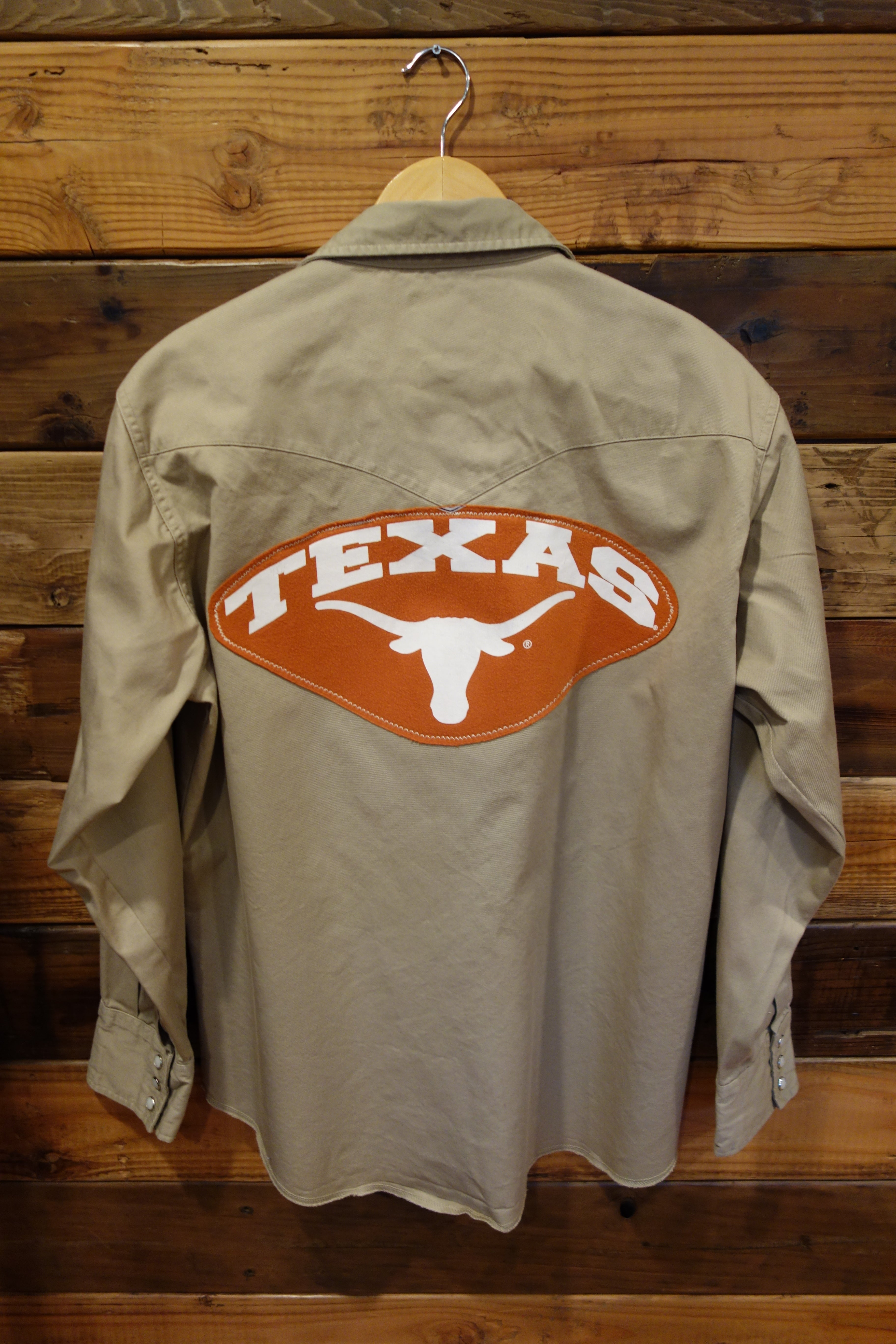 University of Texas Longhorns one of a kind vintage Wrangler western denim shirt