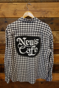 Miami Beach News Cafe one of a kind Lucky Brand vintage shirt