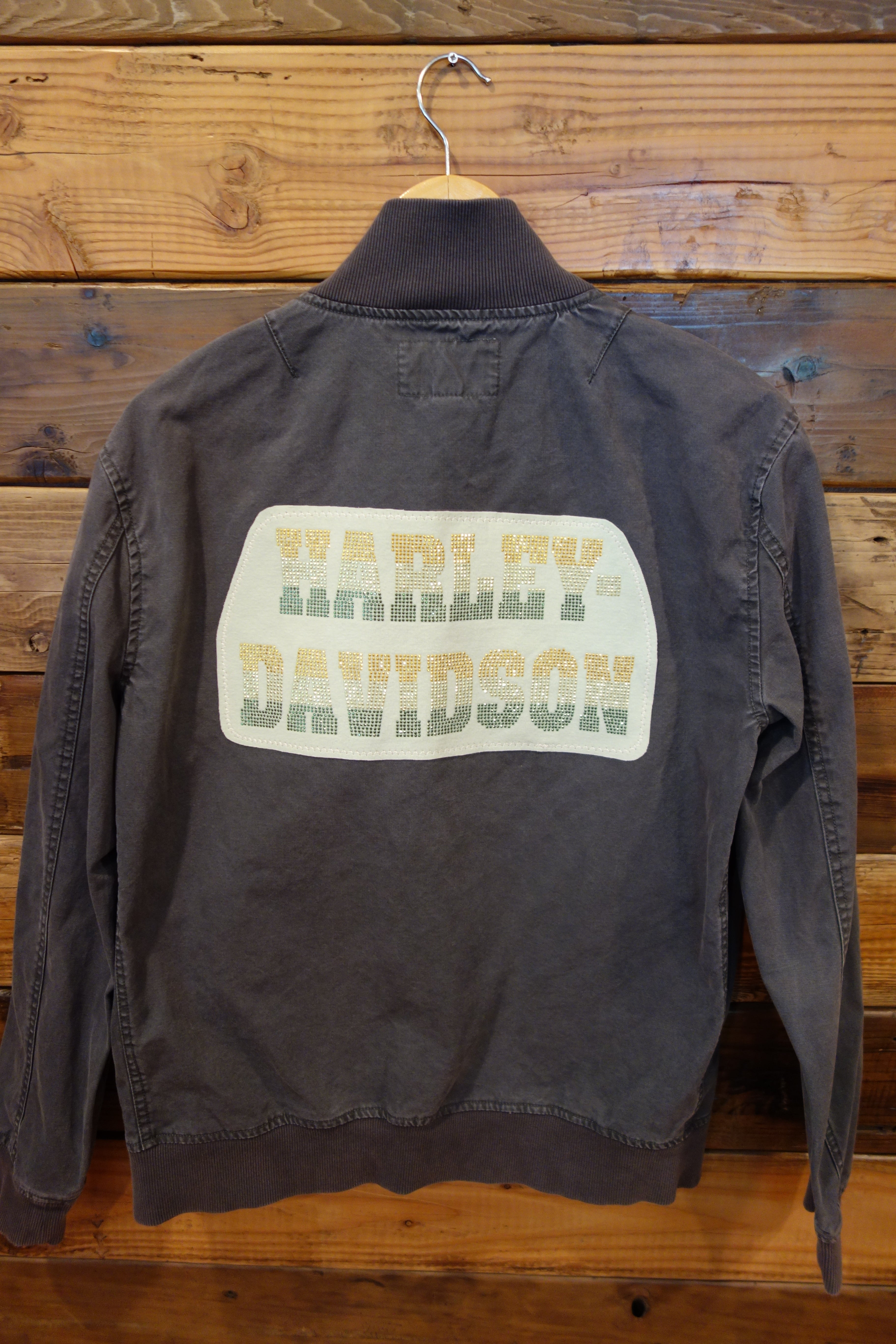Harley Davidson one of a king vintage Converse bomber jacket
