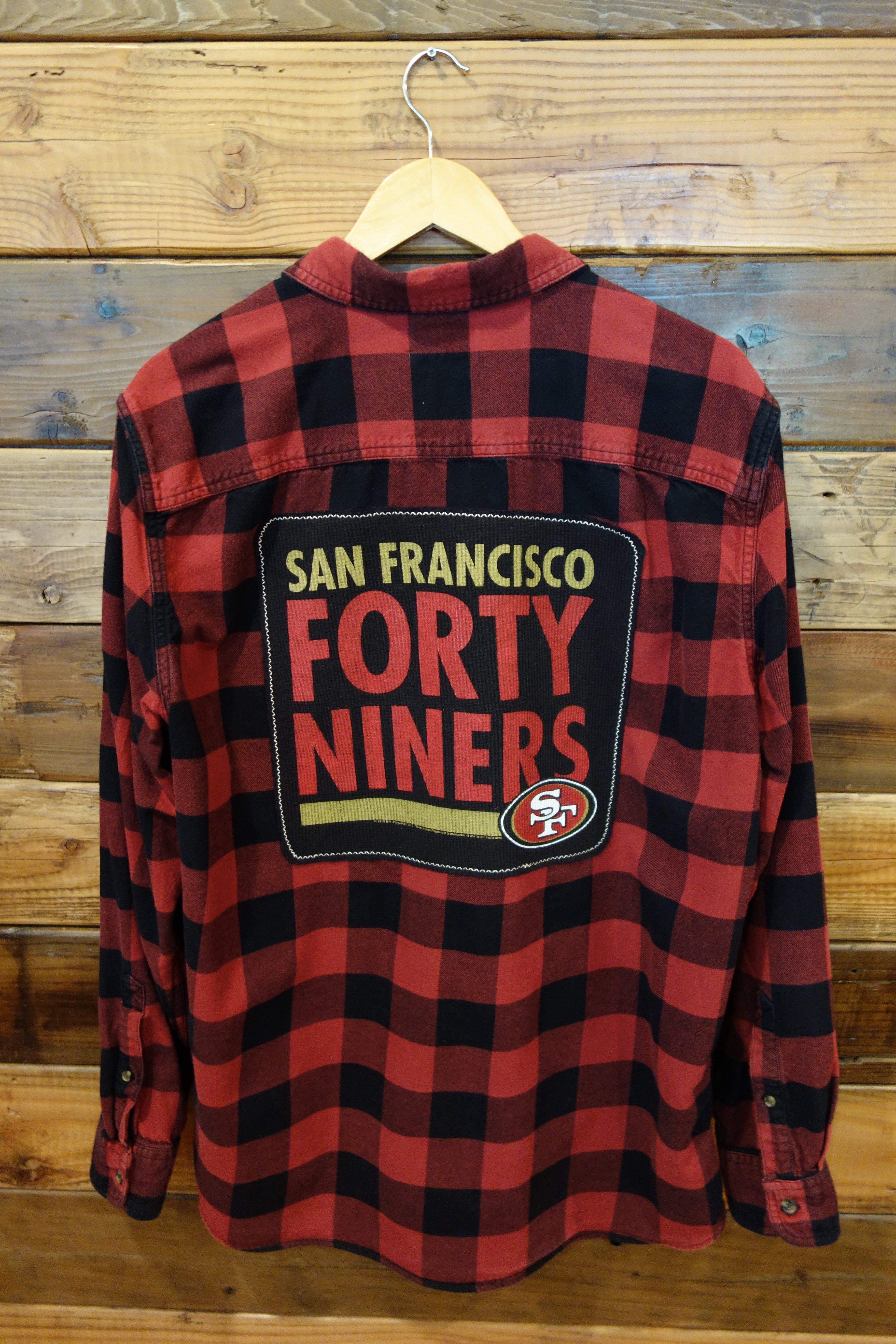 San Francisco 49ers one of a kind lumberjack flannel shirt Timberland