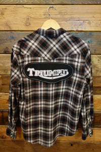 Triumph Motorcycles one of a kind vintage Lucky Brand flannel