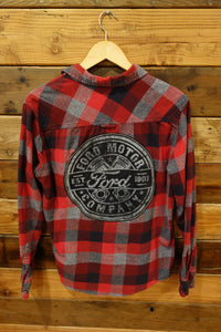 PD&C vintage flannel one of a kind shirt Ford Motor Company
