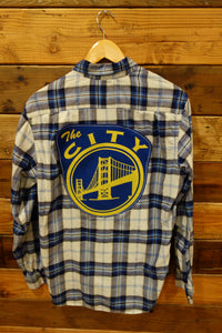 vintage Nautica one of a kind flannel shirt Golden State Warriors The City