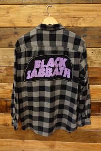 Timberland one of a kind vintage flannel shirt Black Sabbath
