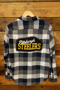 Tailor Vintage flannel one of a kind, Pittsburgh Steelers