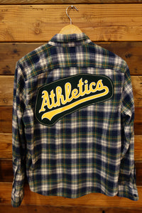 one of a kind Abercrombie and Fitch vintage flannel, Oakland A's Athletics