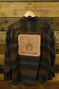 Red Head vintage one of a kind flannel, Bob Marley and the Wailers
