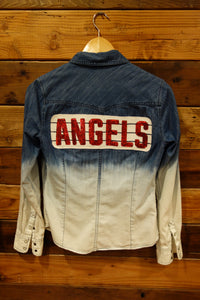 One of a kind, Aeropostale jean shirt, Los Angeles Angels, MLB