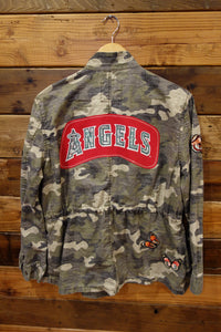 Gap camo vintage jacket one of a kind, custom, Los Angeles Angels