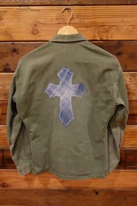 Vintage one of a kind military issue jacket, cross