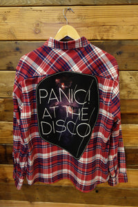 Jachs Girlfriend flannel, one of a kind, music, panic at the disco