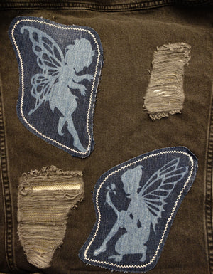 Denim Fairy Wings (Women's - Size L/XL)