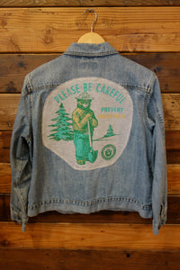 Cabela's Jean jacket, one of a kind, Smokey the Bear