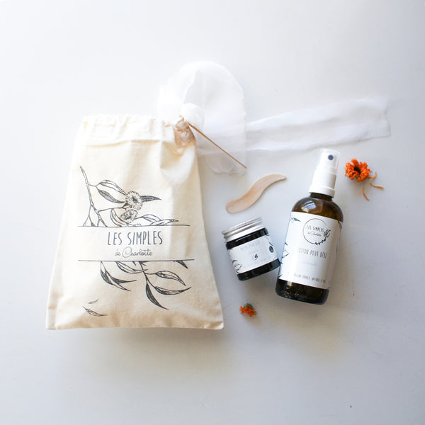 Les Simples de Charlotte - Baby and child gift pouch - balm and lotion - calendula