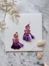 Load image into Gallery viewer, Purple Tier Tassels