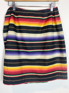 80s Rainbow Wrap Skirt